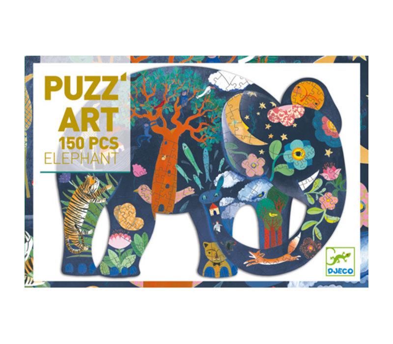 PUZZ'ART (150 MCX) - ÉLÉPHANT