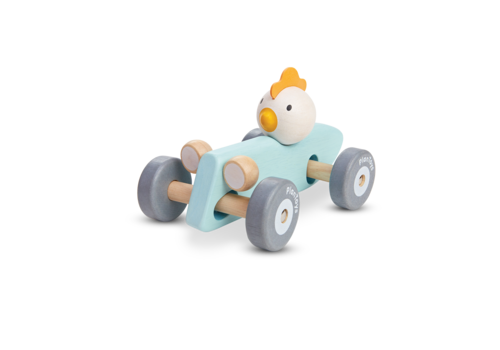 plan toys POULET DANS SA VOITURE DE COURSE