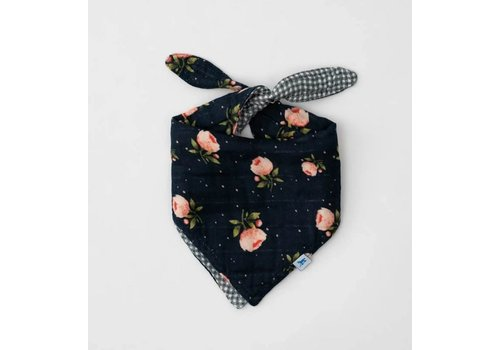 Little Unicorn BAVETTE BANDANA RÉVERSIBLE - MIDNIGHT ROSE