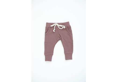 MEBIE BABY PANTALONS FRENCH TERRY - VIEUX ROSE