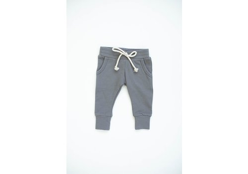 MEBIE BABY PANTALONS FRENCH TERRY - SLATE