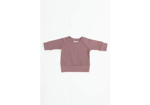 MEBIE BABY CREWNECK FRENCH TERRY - ROSE