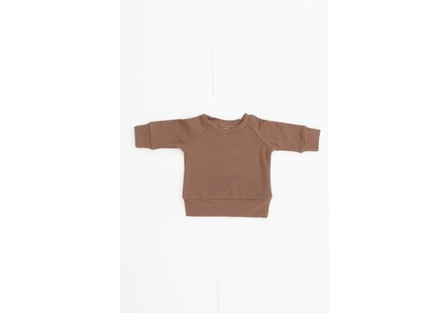 MEBIE BABY CREWNECK FRENCH TERRY - CAMEL