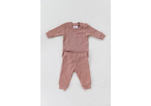MEBIE BABY ENS. 2 MCX COTELÉ - BLUSH