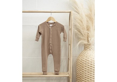 JAX AND LENNON ROMPER LOUNGE SUIT - FAWN