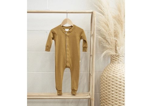 JAX AND LENNON ROMPER LOUNGE SUIT - MOUTARDE
