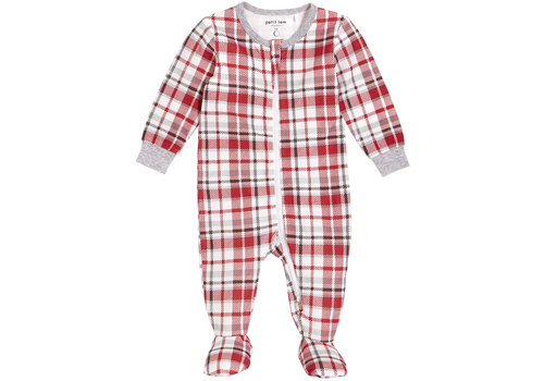 Petit Lem PYJAMA À PATTE - ROUGE À CARREAUX
