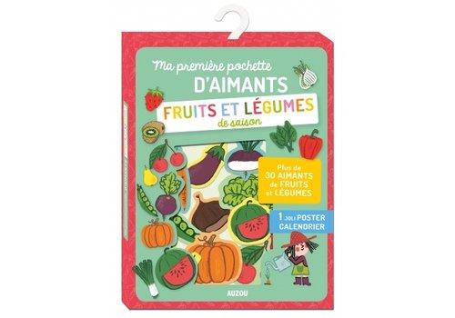 AUZOU MA PREMIÈRE POCHETTE D'AIMANTS : FRUITS ET LÉGUMES DE SAISON