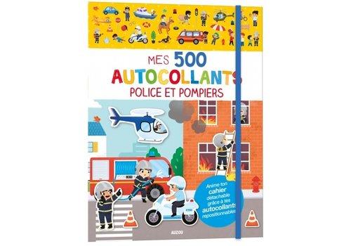 AUZOU LIVRE D'AUTOCOLLANT - MES 500 AUTOCOLLANTS POLICE ET POMPIERS