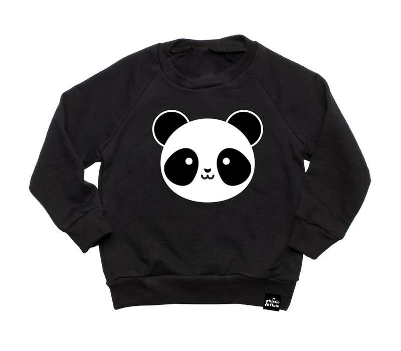 SWEATSHIRT PANDA - NOIR