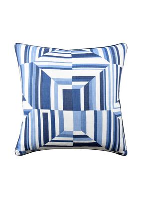 Blue & White Cubism Pillow
