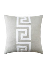 Flax Linen Greek Key Pillow