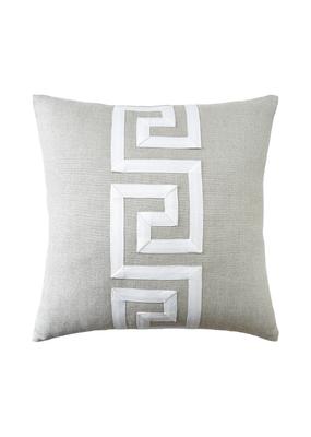 Flax Linen Greek Key Pillow