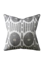 Grey Ikat Dot Pillow