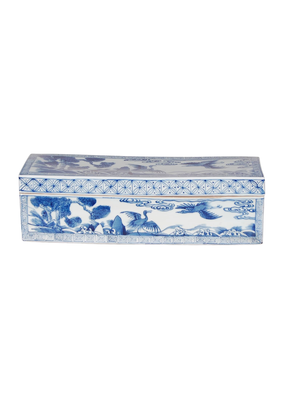 Blue & White Chinoiserie Box
