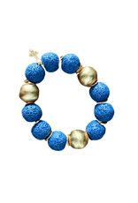Blue Lava Beaded Bracelet