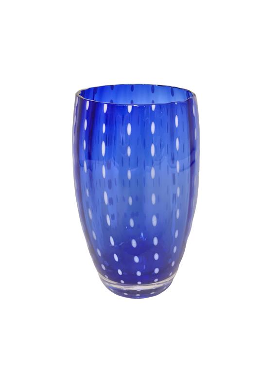 Set of 6 Blue Italian Beverage Glasses