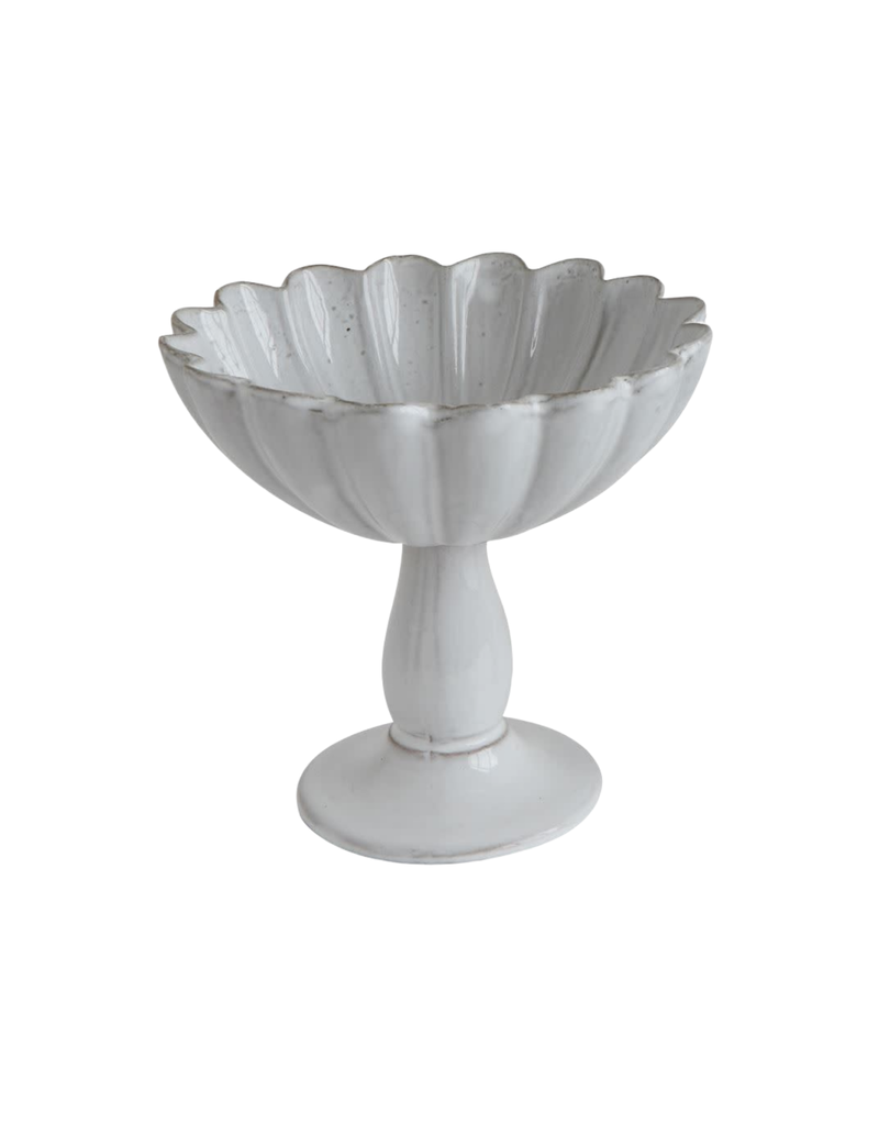 White Ceramic Compote