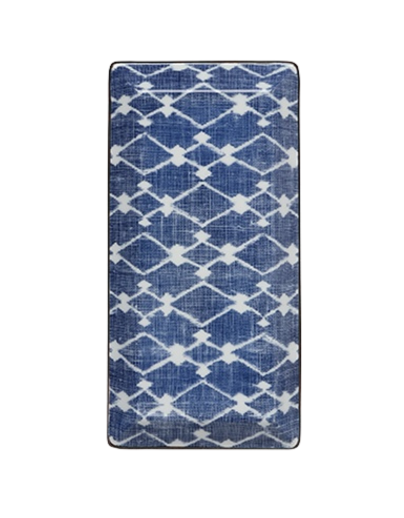 Blue & White Ikat Tray