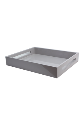 Lacquered Grey Tray