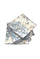 Vintage Blue & White Cocktail Napkins
