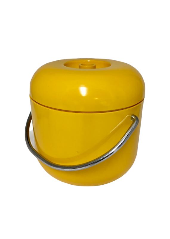 Vintage Yellow Ice Bucket