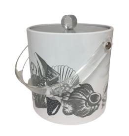 Vintage Grey Shell Ice Bucket