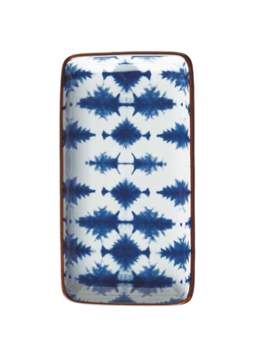 Blue & White Graphic Tray