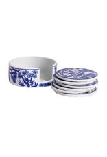 Blue & White Ceramic Coaster Set