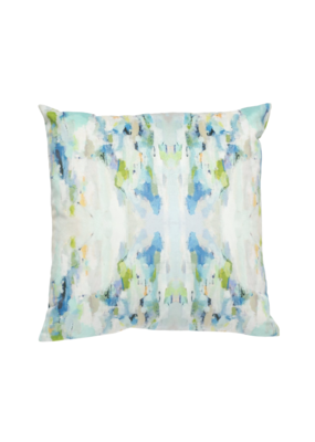Blue & Green Watercolor Pillow