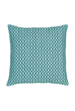Aqua & Navy Chain Stitch Pillow