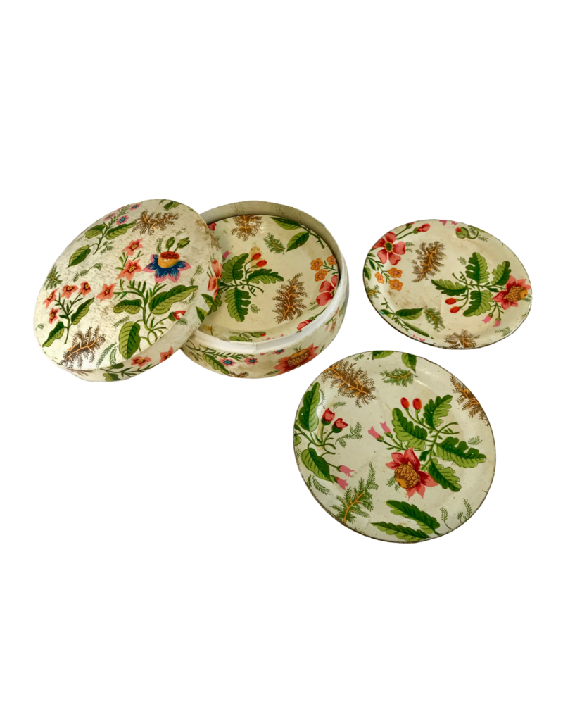 Vintage Floral Coaster Set