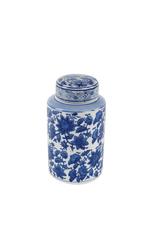Blue & White Floral Jar