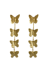 Etched Butterfly Earrings