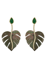 Jade & MOP Leaf Earrings