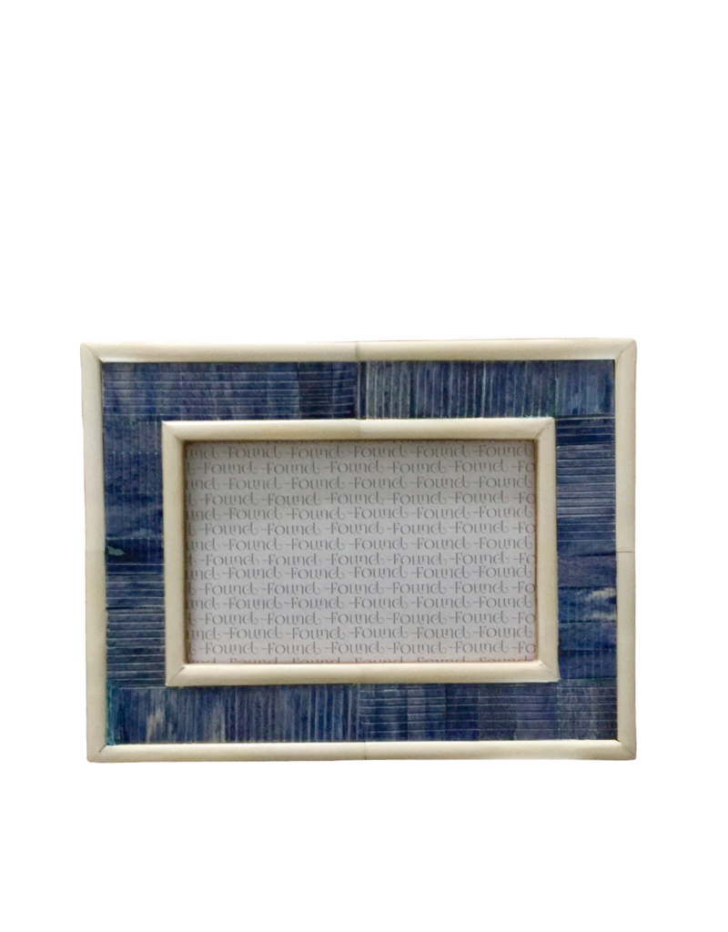 Blue & Ivory Inlay Frame 4x6