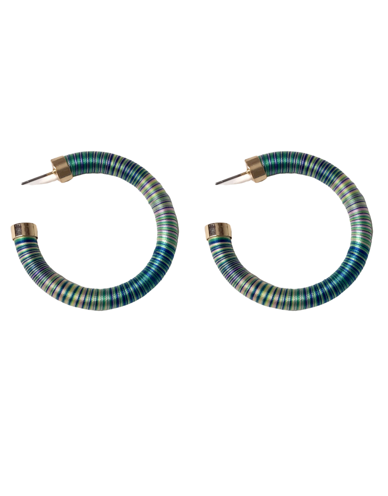 Bright Stripe Hoop Earrings