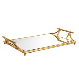 Gold Bamboo Mirrored Tray