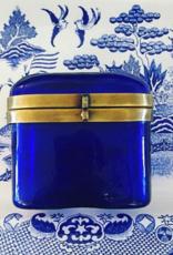 Glass & Brass Hinged Box