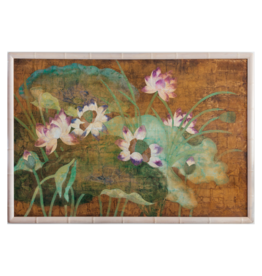 Vintage Extra Large Framed  Lily Pads
