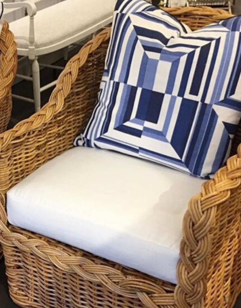 Blue & White Cubism Pillow
