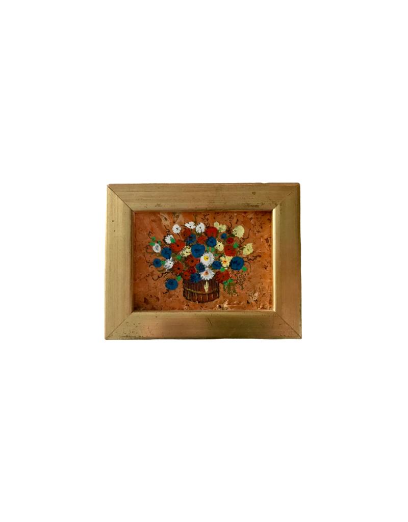 Vintage Mini Floral Painting