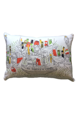 Vintage Tug Boat Lumbar Pillow