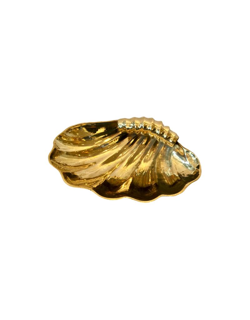 Vintage Brass Scallop Shell Dish