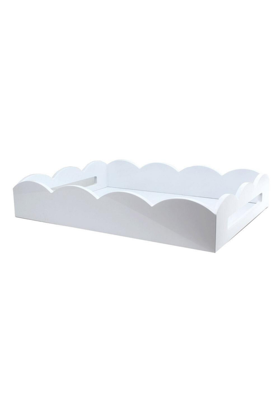Lacquered White Scallop Tray