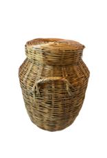 Vintage Lidded Basket