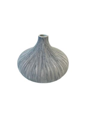 Blue & White Porcelain Curved Vase