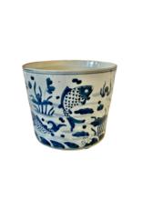 Blue & White Koi Planter