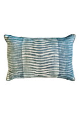 Blue Wave Stripe Lumbar Pillow