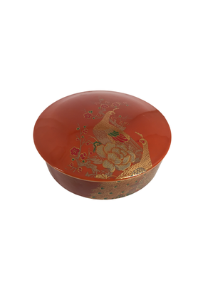 Vintage Ceramic Peacock Box